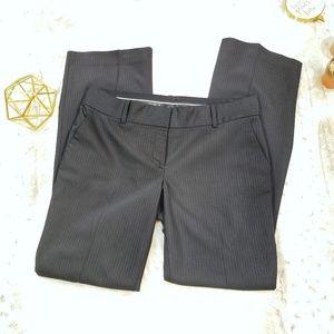 Ann Taylor Black Pinstriped Pants SZ 6 EUC